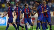 Ronaldinho régale encore avec le maillot du Barça