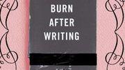 """""""Burn After Writing"""", le journal intime qui ne laisse pas de traces"""