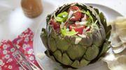Recette : Salade d'été en coque d'artichaut