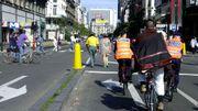 Les boulevards du centre, jadis dévolus aux voitures, réservés aux modes alternatifs le 24 septembre 2000.