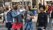 Les manifestants réunis à Liège pour le climat.