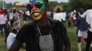 Quelques-unsarboraient les couleurs du drapeau et, avec elles, leur fierté sud-soudanaise.