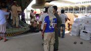 Arrivée des aides humanitaires