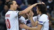 Ibrahimovic et Cavani se congratulent