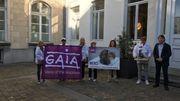 """Par son action, Gaia voulait ainsi """"féliciter"""" la secrétaire d'État pour la nouvelle obligation qui entrera en vigueur dès janvier 2018."""