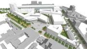 Le futur visage du site de l'ancien hôpital de Bavière.