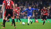 D'un assist en talonnade, Hazard envoie Chelsea et Batshuayi en 1/2 de la League Cup, ManU et Lukaku éliminés