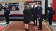 Le tapis rouge était déroulé pour l'arrivée des souverains en gare de Luxembourg