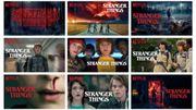 Différents visuels possibles pour la série Stranger Things