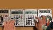 Un Youtubeur virtuose interprète la Lettre à Elise de Beethoven sur de vieilles calculatrices
