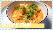 Tuto du chef: Soupe thaï aux scampis