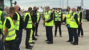 Le roi Philippe en visite à l'aéroport de Liège