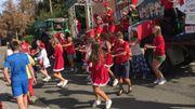 L'équipe de Profondeville a hérité du thème de Noël pour son char