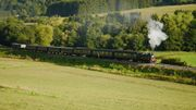 A Treignes, le train touristique à vapeur a retenti à nouveau ce week-end !