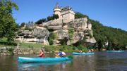 En kayak sur la Dordogne et la Vézère