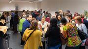 Rencontre entre journaliste et femmes expertes dans les locaux de la RTBF fin 2018