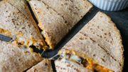 La recette vegan de Candice: Quesadillas de patate douce à l'avocat et au beurre de cacahuètes