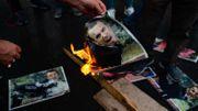 Manifestation à Istanbul contre Emmanuel Macron et la republication des caricatures de Mahomet