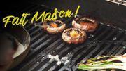 """Recette """"Fait Maison! Barbecue"""": Champignons Portobello farcis au taboulé de chou-fleur et brocoli"""