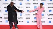 """Steve McQueen et Letitia Wright à l'ouverture du festival du film de Londres pour la projection de """"Mangrove"""""""