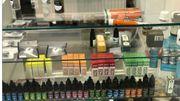 Une partie des produits qui était en vente au magasin d'Ixelles