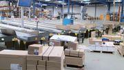 Vu les volumes à produire, la logistique occupe une place importante dans l'entreprise.