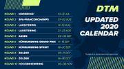 Le calendrier 2020 de la saison de DTM
