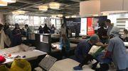 Action de désobéissance civile à Ikea Anderlecht pour dénoncer l'évasion fiscale de l'entreprise