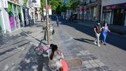 Systèmes de contrôle de respect des distances en test dans la rue commerçante, le Meir à Anvers