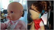 Des appareils auditifs sur des poupées pour sensibiliser les enfants à la surdité
