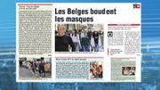 Les Belges boudent les masques