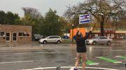 Michigan: militer sous la pluie