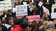 Rassemblement du personnel du monde judiciaire à Mons