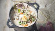 Recette : fondue d'agneau aux épices thaï