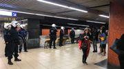 La police a évacué la station de métro