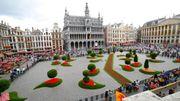 Eclosion de l'événement bruxellois Floraliëntime sur la Grand Place