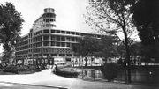 1935 : Pose de la première pierre de l'immeuble INR à Flagey