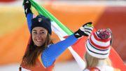 Sofia Goggia, première Italienne championne olympique de descente, Lindsey Vonn 3e