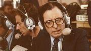 Fernand Colleye assurant une émission en direct.