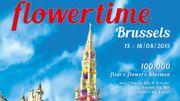 Le Flowertime propose un jardin sur le thème de l'Italie baroque au cœur de Bruxelles