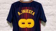 Un maillot collector pour le dernier match d'Iniesta avec le FC Barcelone