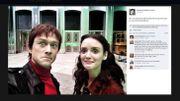 """Un selfie de Joseph Gordon-Levitt et Charlotte Le Bon sur le tournage de """"The Walk"""""""