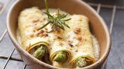 Recette : Cannellonis d'asperges vertes et blanches et jambon fumé