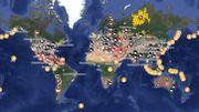 La carte mondiale de la pollution au dioxyde de soufre, responsable de millions de décès par an