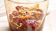 Recette : Salade de betterave aux graines de sésames et zestes d'orange