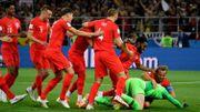 """L'Angleterre de Kane brise la """"malédiction"""" des tirs au but et élimine la Colombie"""