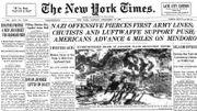 La presse américaine suit de près cette offensive des Ardennes