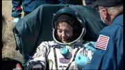 Retour sur terre de Jessica Meir, biologiste marine, membre de l'équipage sortant de l'ISS