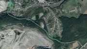 """Voici le tracé de la """"route des montagnes"""" que Sagrex veut construire."""