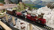 Record du monde pour ce train miniature jouant 20 œuvres classiques sur des verres d'eau